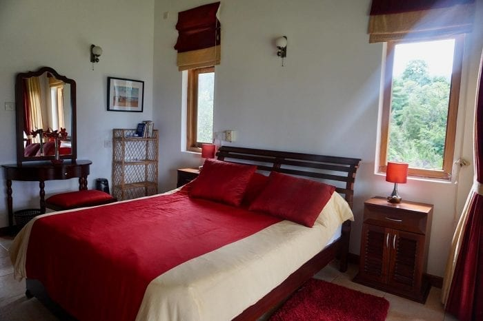 Jungle Tide Accommodation Woodpecker double family room is beautifully appointed