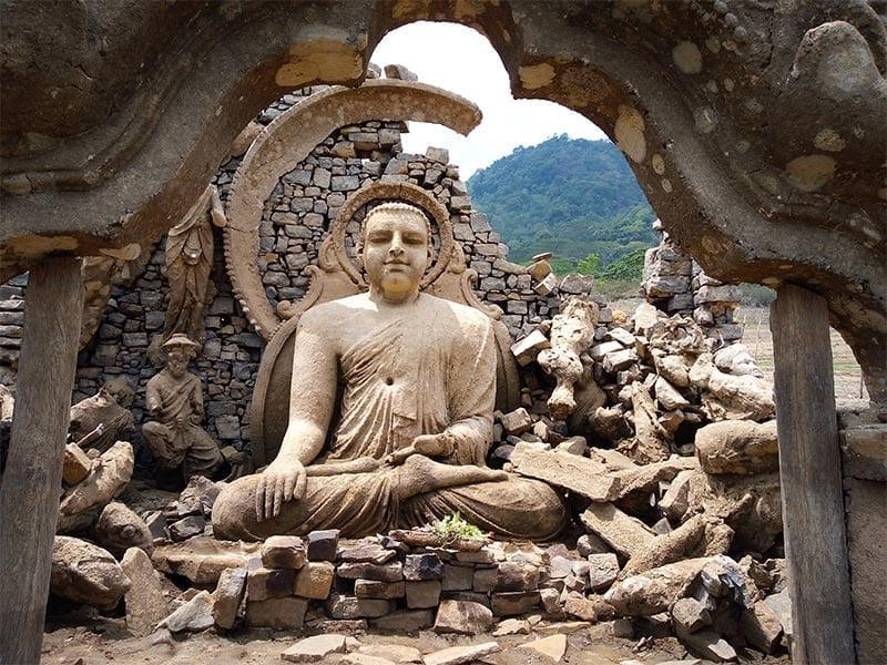 Sunken Buddhist temple Kotmale