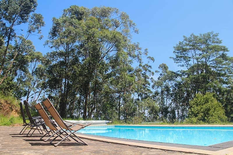 Jungle Tide Guest House swimming pool loungers - perfect for family holidays