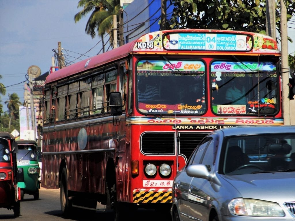 Sri Lanka bus transport